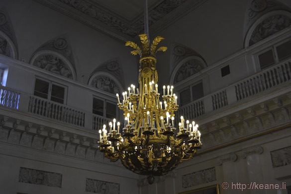 Chandelier in the Peterhof Palace