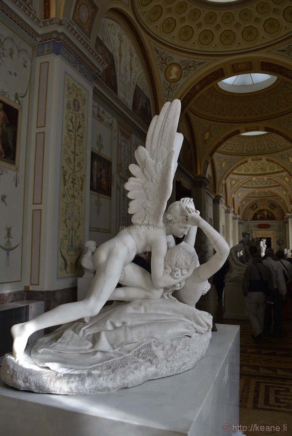 Psyche Revived by Cupid's Kiss by Antonio Canova in the Hermitage