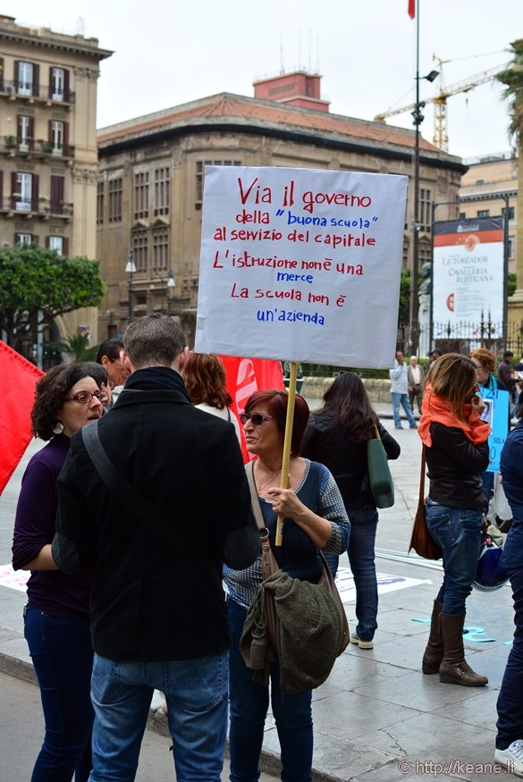 Protesters Fighting for Better Schools in Palermo