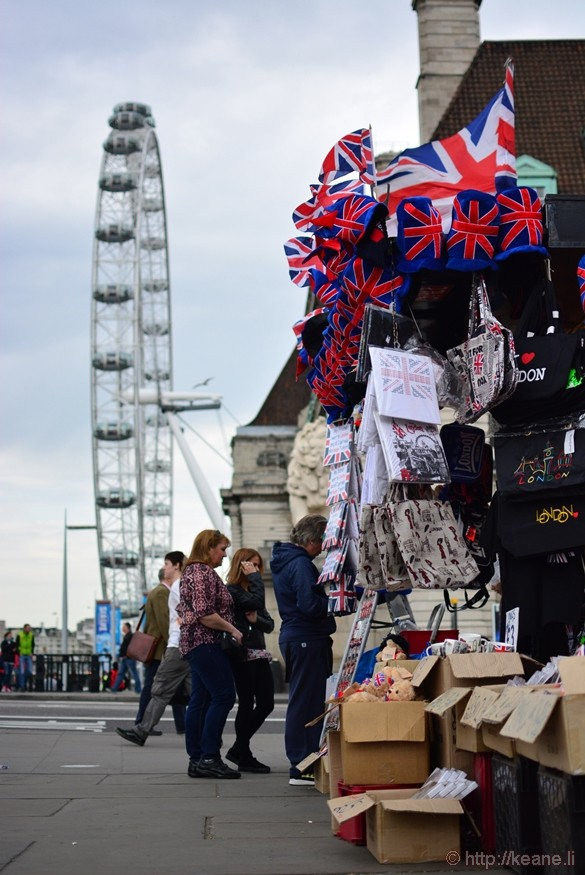 London Eye and Street Vendor