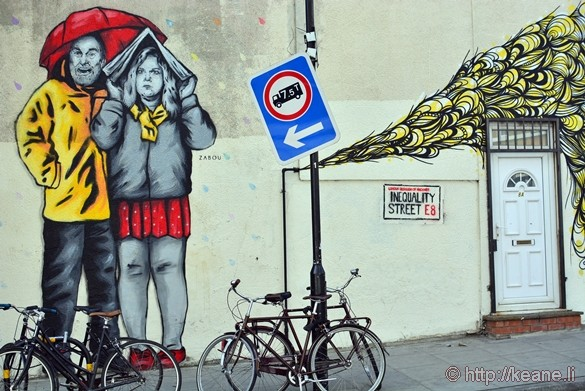 Street Art by Broadway Market in London