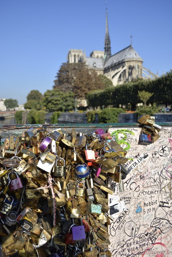 Notre Dame Cathedral - Love Locks and Graffiti