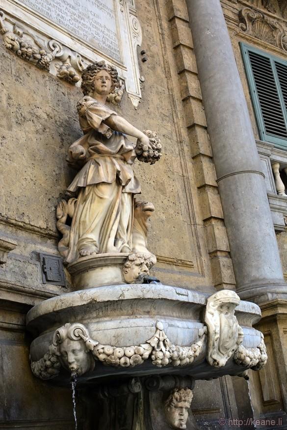 One of the Quattro Canti at Piazza Vigliana