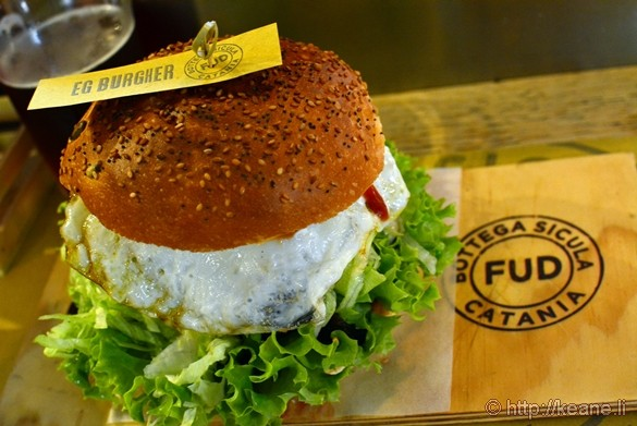 Eg Burgher at Fud Restaurant in Catania