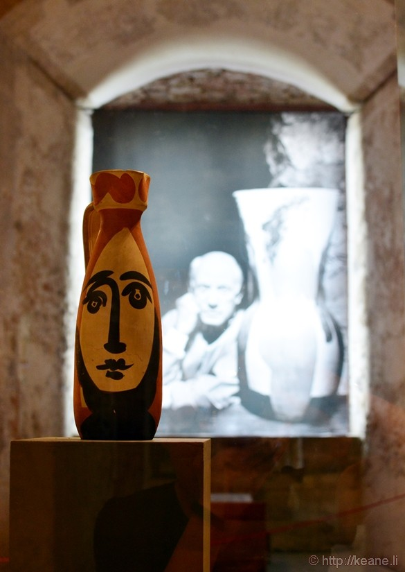"""Visage"" Ceramic Vase by Pablo Picasso in the Museo Civico in Castello Ursino"