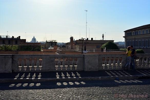 Couple Kissing in the Piazza del Quirinale