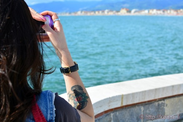 Lido di Camaiore - Beautiful Girl Takes a Photo