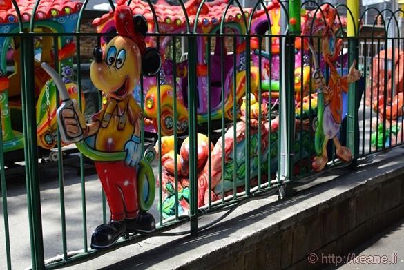Mickey Mouse Image at Small Carnival in the Giardini del Molosiglio