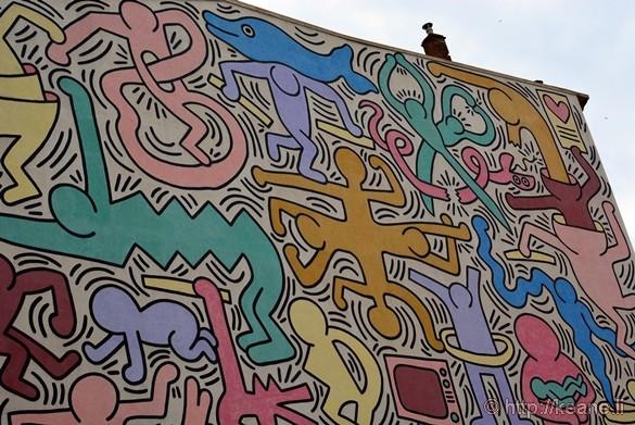 "Keith Haring Mural in Pisa, ""Tuttomondo"""