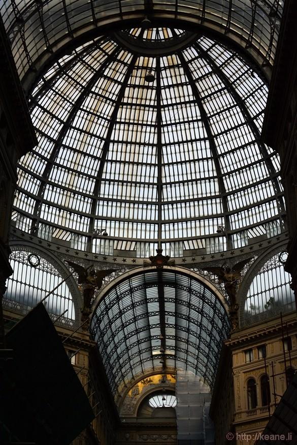 Dome of Galleria Umberto I in Naples