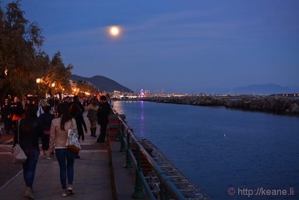 Full Moon over the Lungomare di Salerno