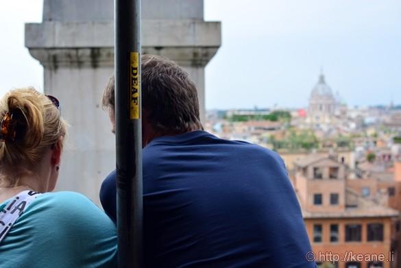 Couple at the Entrance to the Chiesa Santissima Trinità dei Monti
