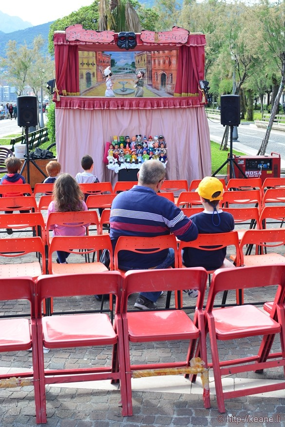 Puppet Show Along Salerno Waterfront