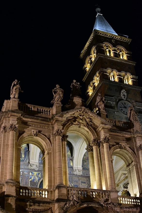 Basilica di Santa Maria Maggiore at Night