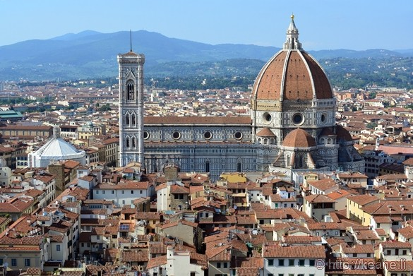 View of Florence and the Duomo from the Torre of Palazzo Vecchio