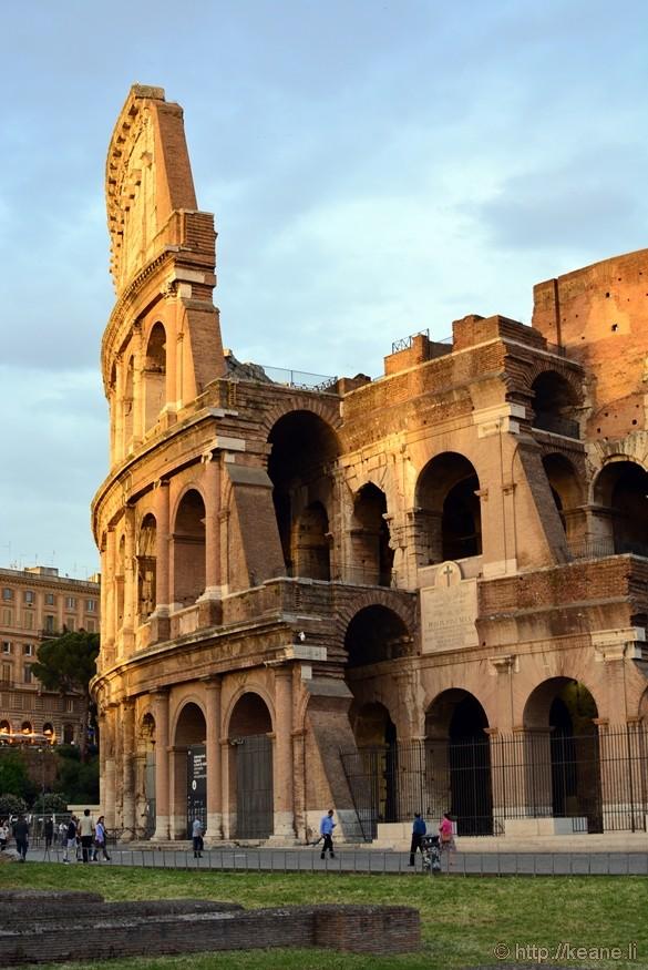 Roman Coliseum at Sunset