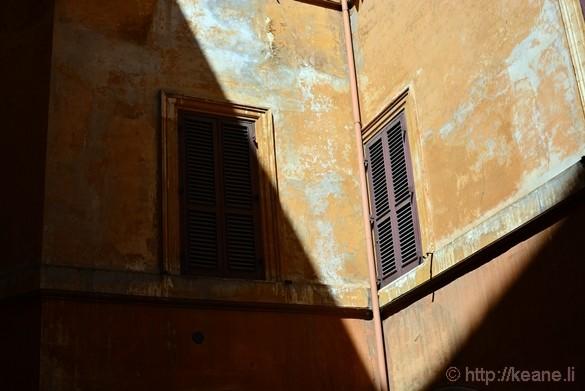 Light Against Roman Building