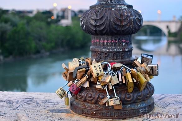 Love Locks on Ponte Milvio