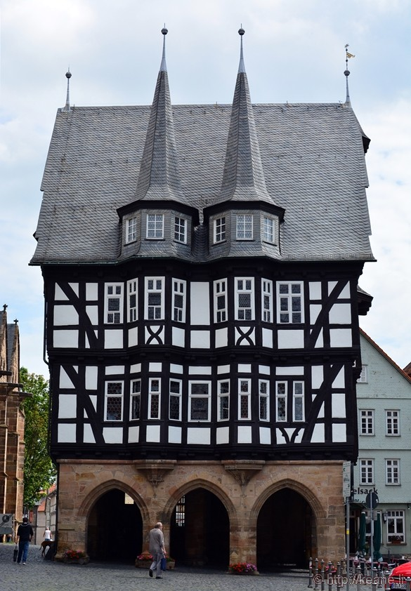 Historic Market at Marktplatz in Alsfeld, Germany