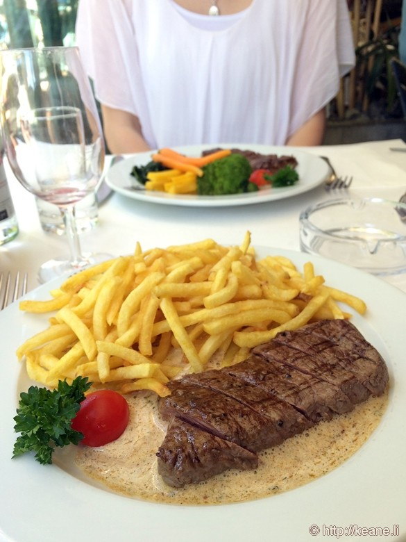 Swiss Steak at Entrecôte Cafė Fėdėral in Bern