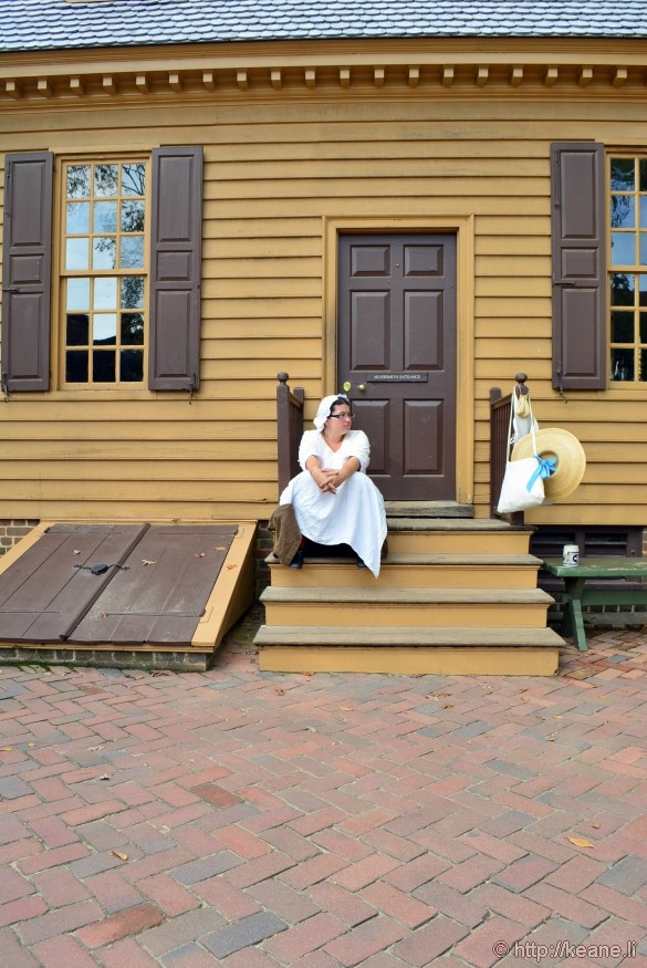 Colonial Williamsburg - Woman Resting