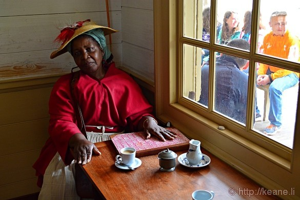 Colonial Williamsburg - Emily James as Edith Cumbo Inside R. Charlton Coffeehouse