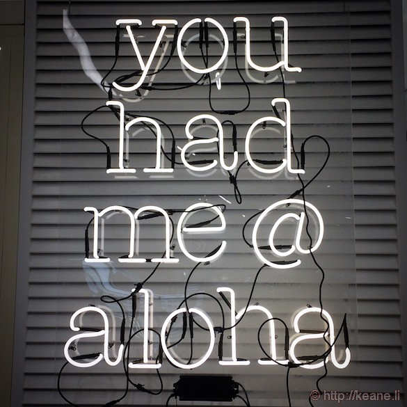 "Oahu - ""You Had Me at Aloha"" Neon Sign in Bloomingdale's"