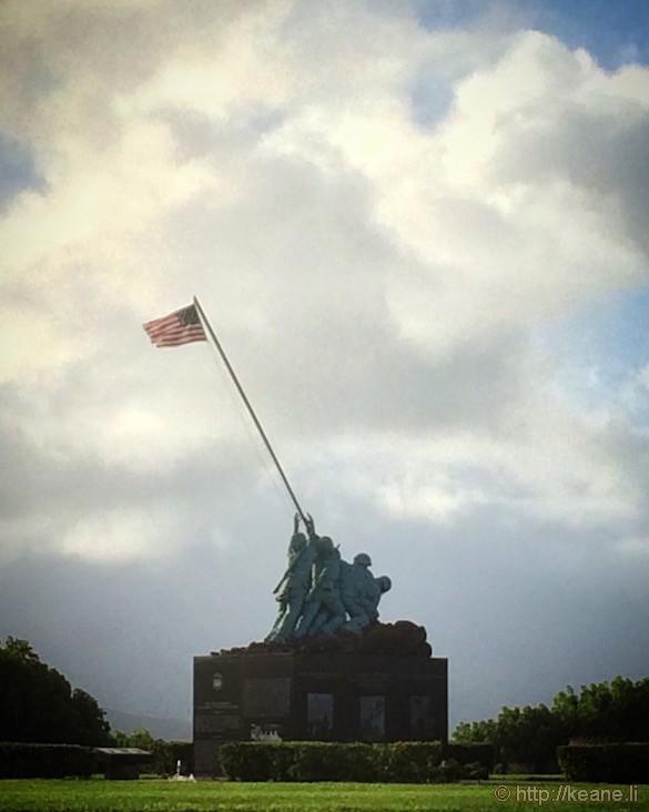 Oahu - Memorial at Kaneohe Marine Base Corps Hawaii