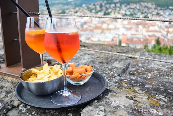 Aperitivo in the Castello di San Giusto