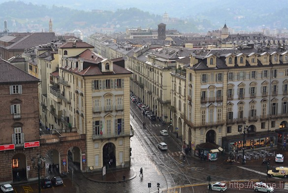 Turin in the Rain