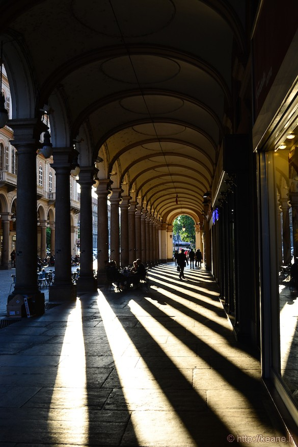 Turin Portici and Chiaroscuro