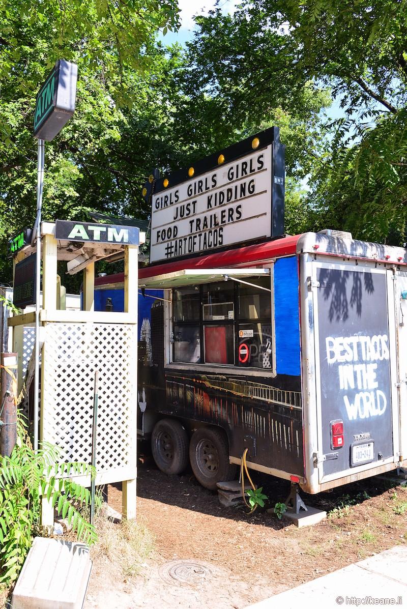 Food Truck Along Rainey Street in Austin