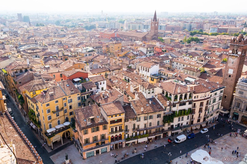 View of Verona from the Torre dei Lamberti