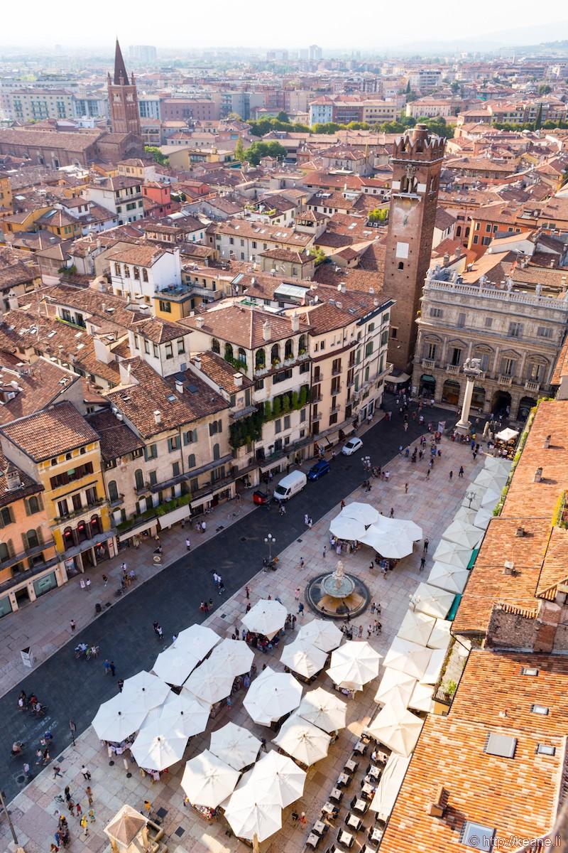 View of Verona from the Torre dei Lamberti