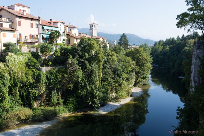 Cividale del Friuli and the Natisone River from the Ponte del Diavolo