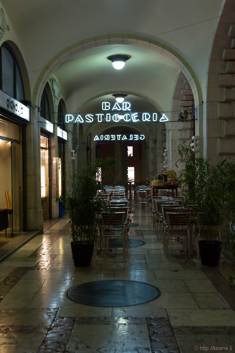 Neon Signs in Udine's Centro Storico