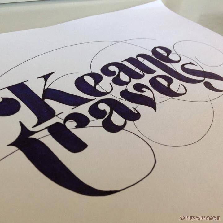 Keane Travels Calligraphy