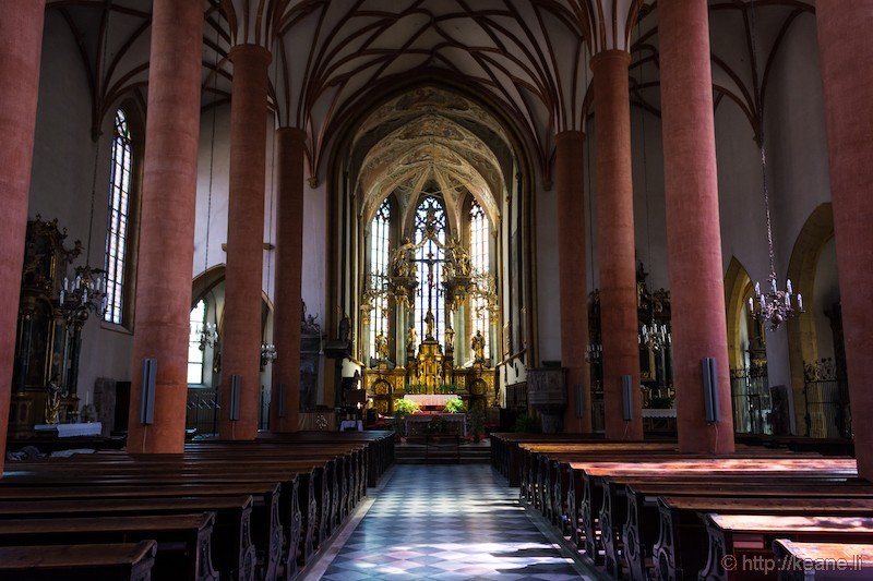 Inside Villach Parish Church St. Jakob