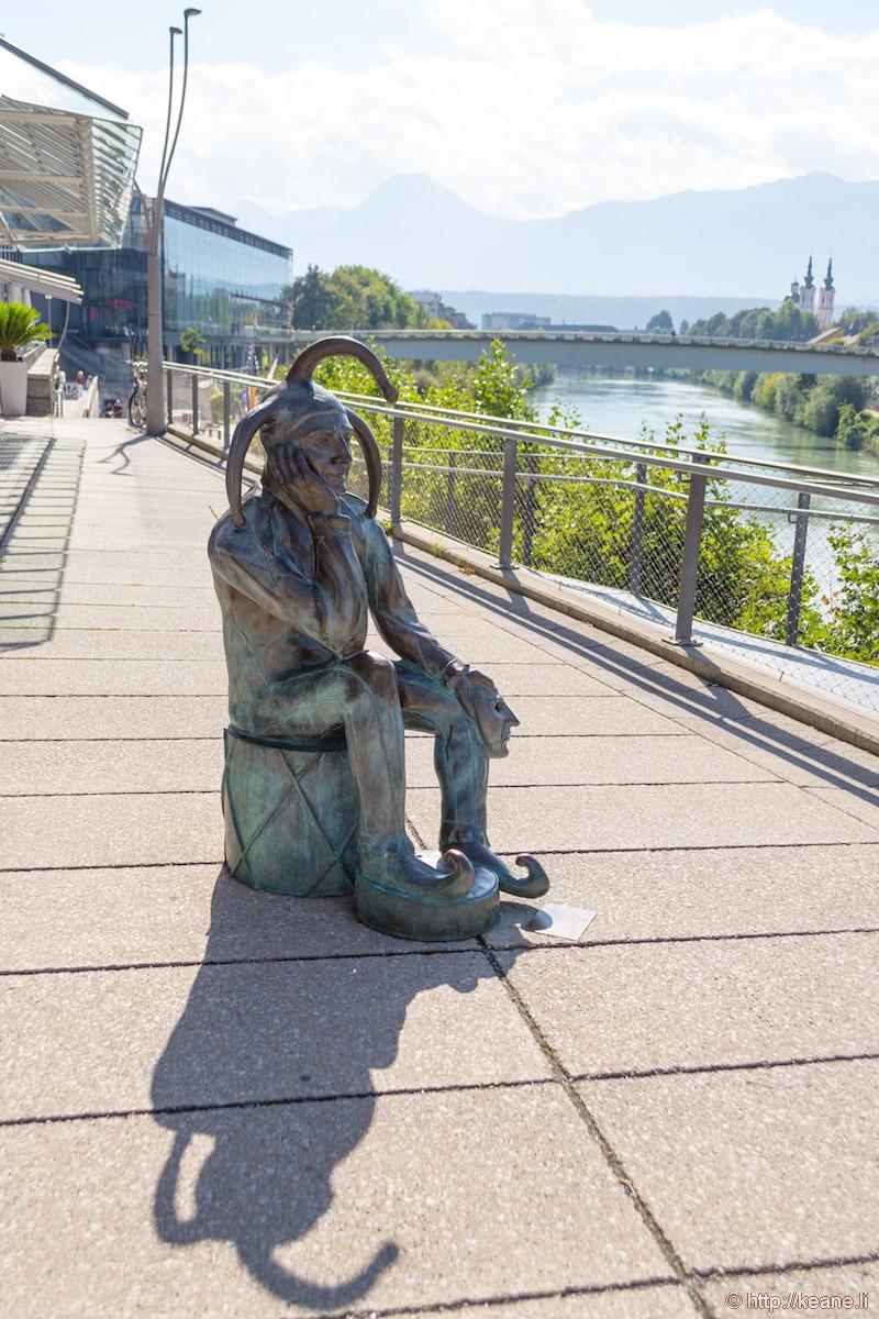 Harlequin or Jester Sculpture in Villach, Austria