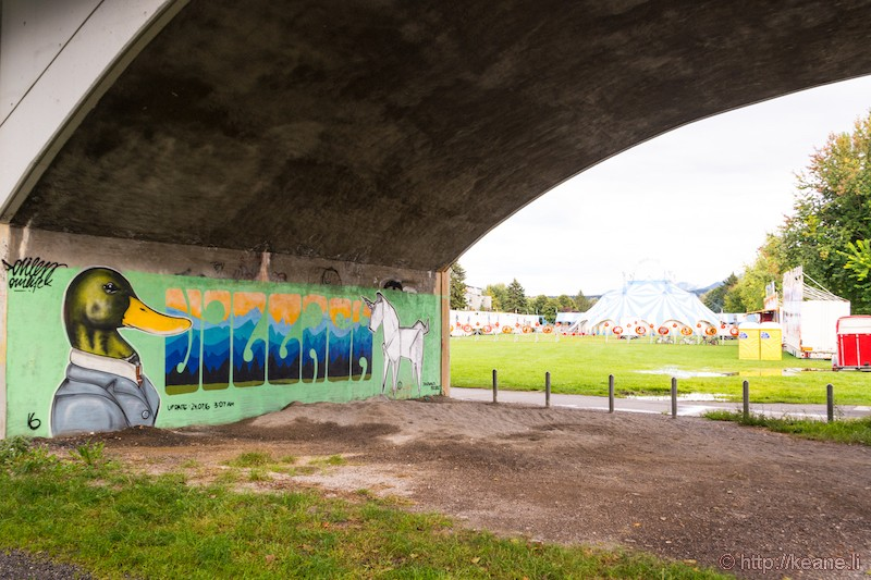 Graffiti in an Underpass and the Circus Berlin