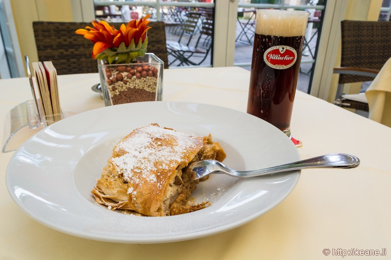 Apple Strudel at Villacher Brauhof in Villach, Austria