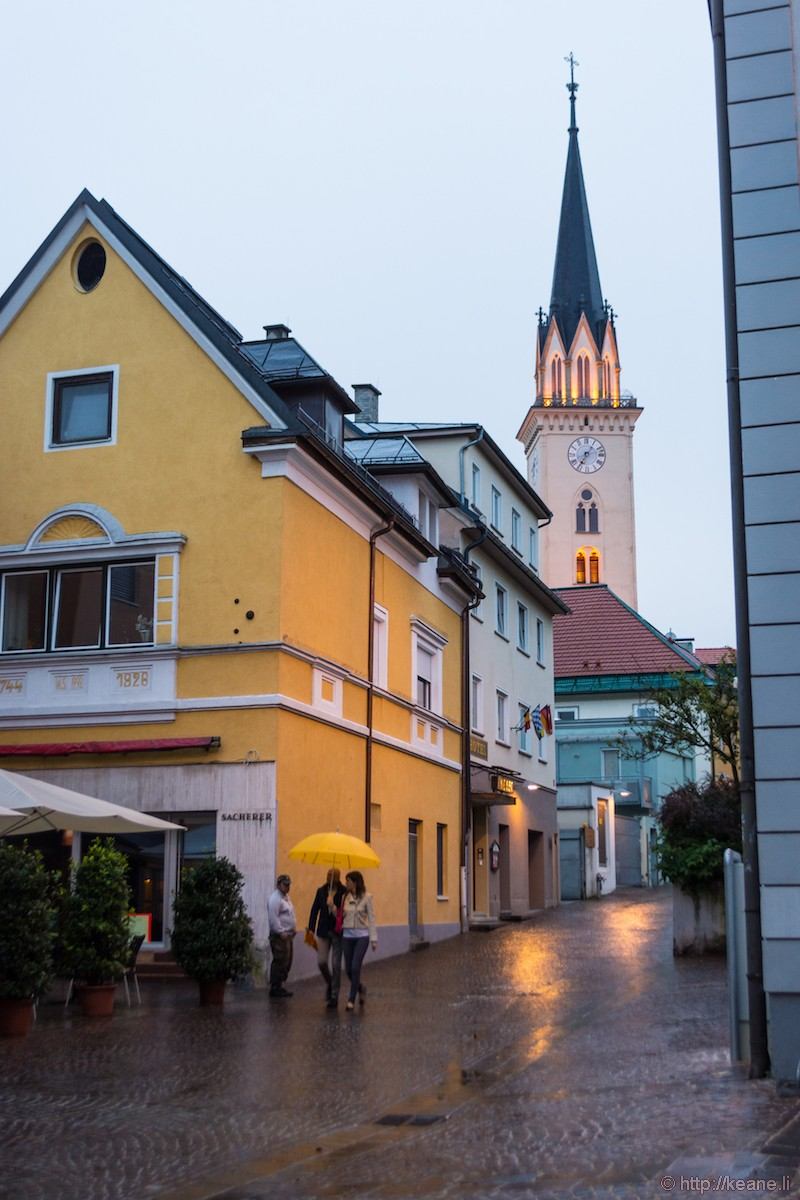 Villach, Austria in the Rain