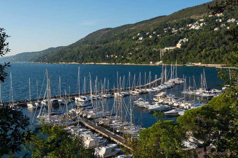Marina in the Gulf of Trieste