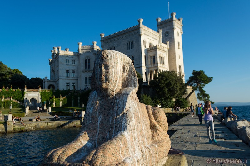 Sphinx at the Castello di Miramare
