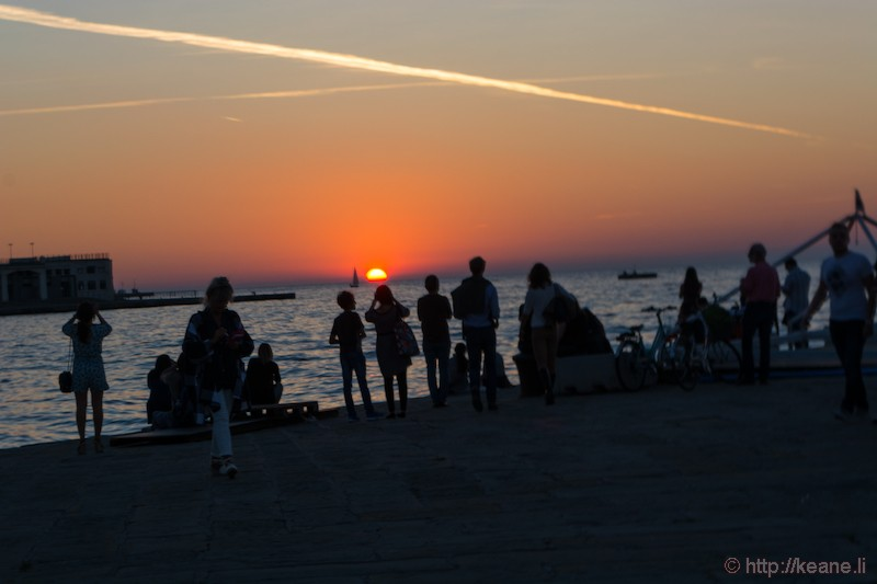 Sunset from the Molo Audace in Trieste