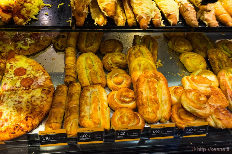 Pastries and Burek in Ljubljana