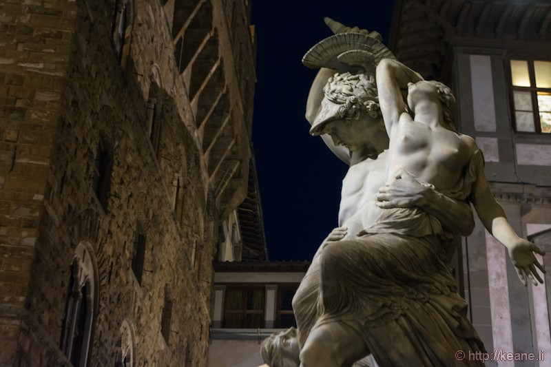 The Rape of Polyxena Statue in the Loggia dei Lanzi