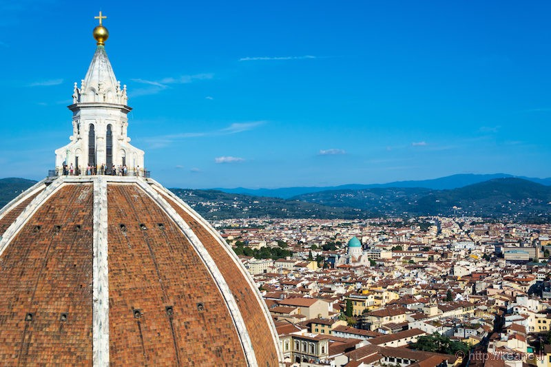 View from the Top of the Campanile, Florence Duomo