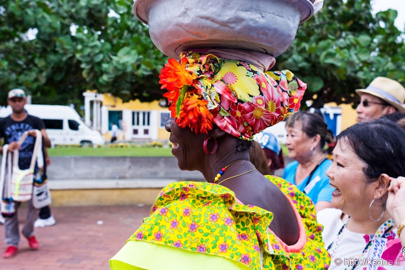 Colorful Woman at San Felipe de Barajas Castle