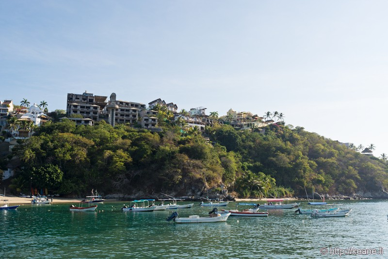 Arriving in Huatulco, Mexico